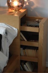 Opbergen hoofdeinde bed | Peppermint Interieuradvies