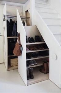 Opbergplekken | opbergen onder de trap | Peppermint Interieuradvies