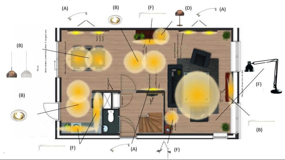 Vlekkenplan | lichtplan | Peppermint Interieuradvies Twente