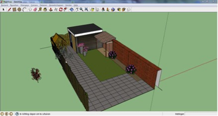 Tuinontwerp in Sketchup | Peppermint Interieuradvies | Enschede