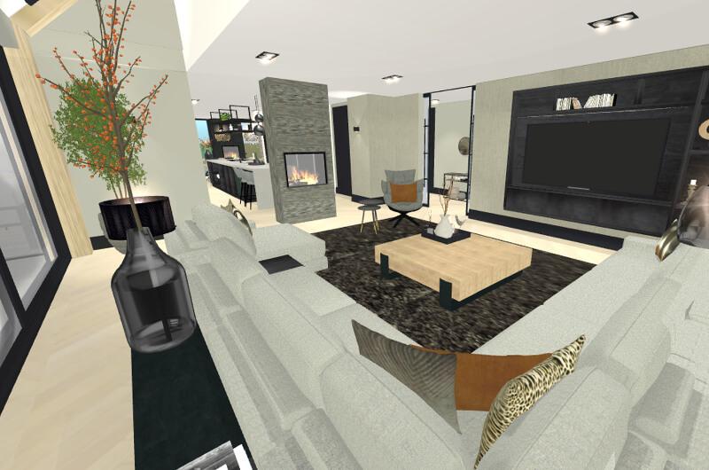 Interieuradvies interieurplan 3D a